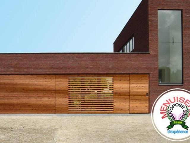 Vente porte garage en bois