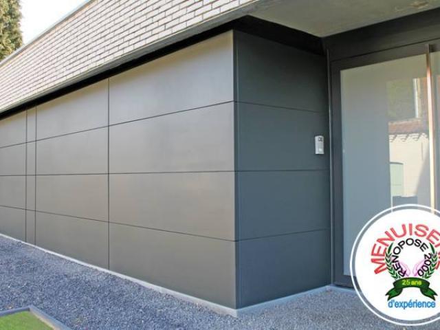 Installation porte de garage sectionnelle